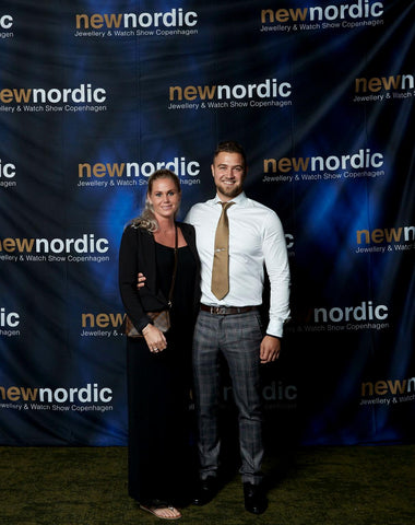 Brand New Winner Goldsmith Morten Priisholm together with wife Lea Priisholm