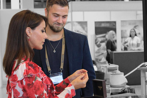 Prinsesse Marie visiting Morten Priisholm at the New Nordic Fair for his Men's Jewellery