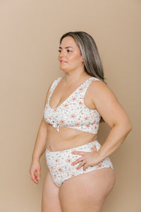 Women's High Waisted Bottoms - Blooming Peach