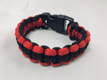 Red and Black Paracord Bracelet