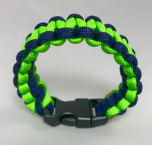Navy and Neon Green Paracord Bracelet