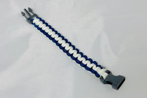 Navy and White Paracord Bracelet