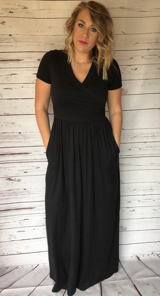 Black Cross Maxi- Long