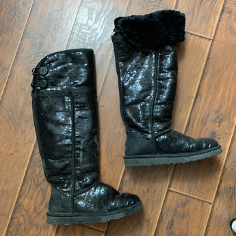 Black Sequin Uggs