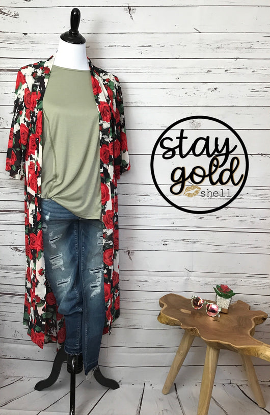 Red Rose Duster