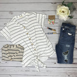 Simple Stripes Tie Top