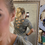 Cross Back Camo Top