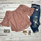 Lace Date Night Top