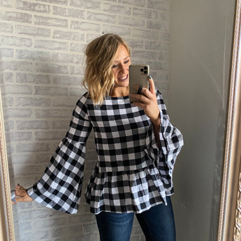 Plaid Perfection Top