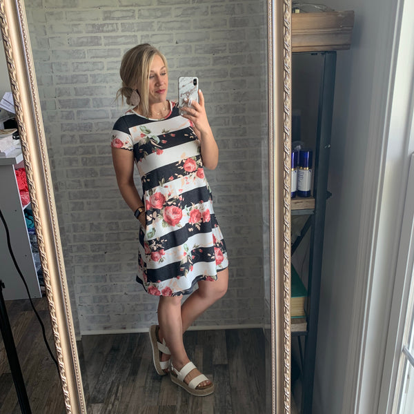 Striped Cas Dress