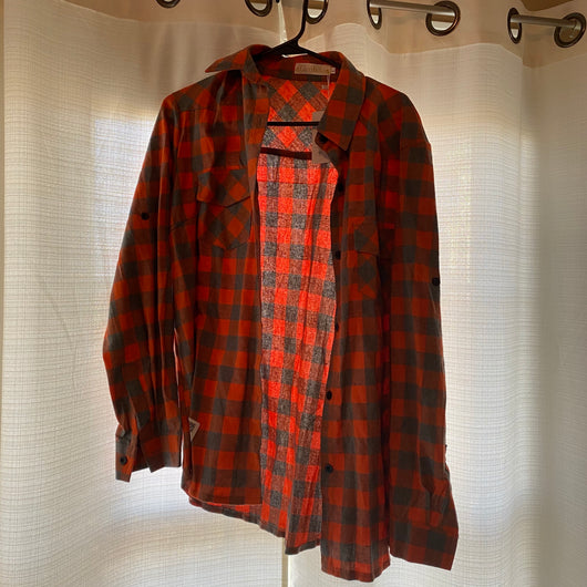 Orange Gray Flannel