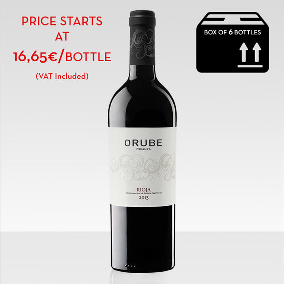 Orube crianza red wine rioja