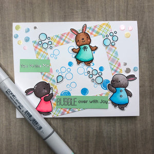 """Bubble Over With Joy"" Card"