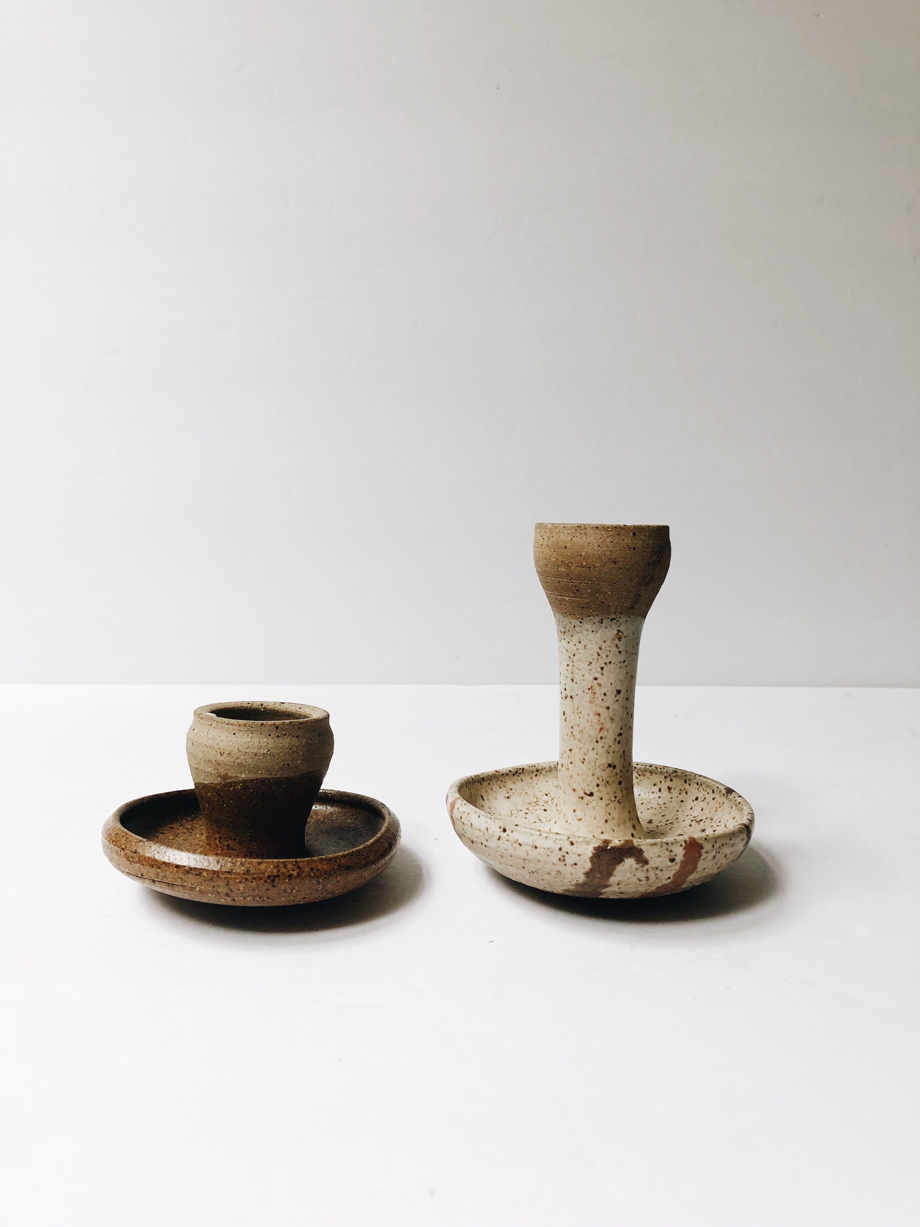 Handmade Ceramic Candlestick Holders