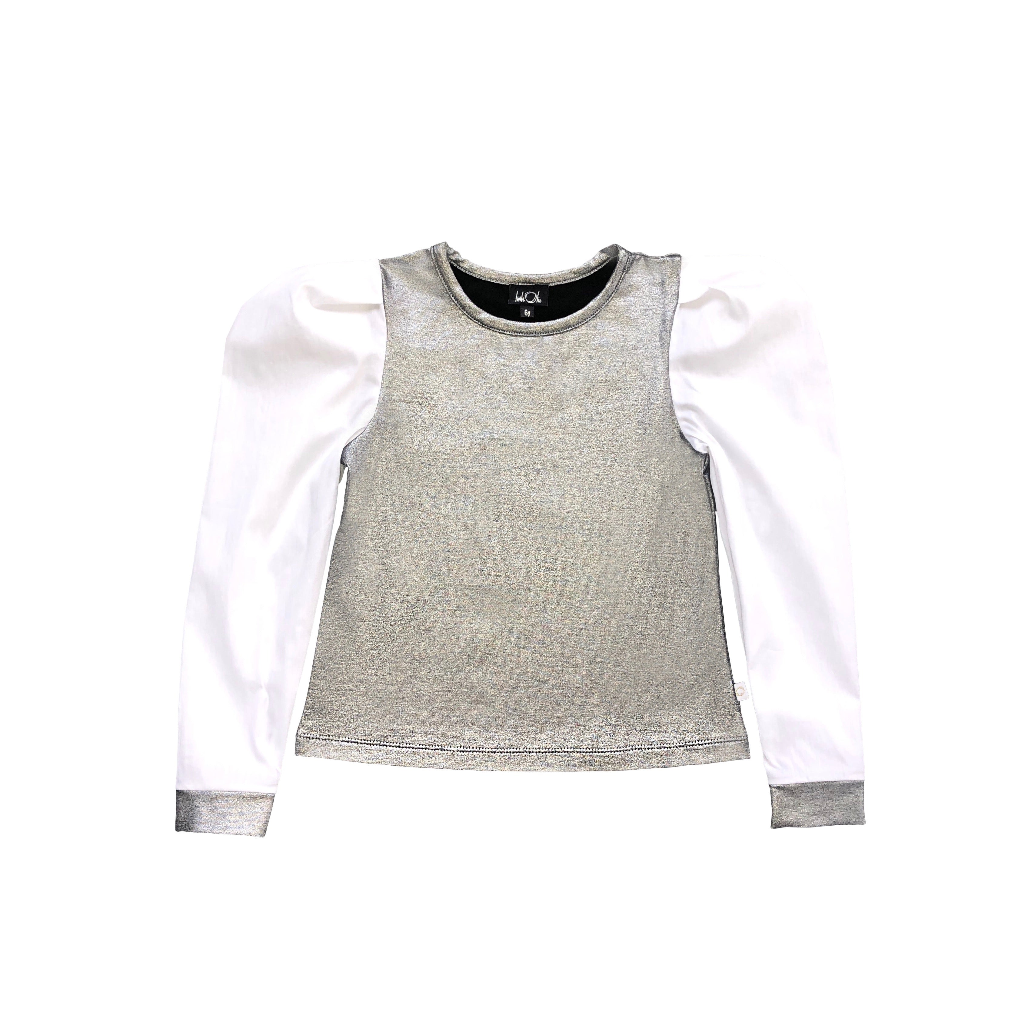 AW20/21 Puffed Sleeve Silver Blouse