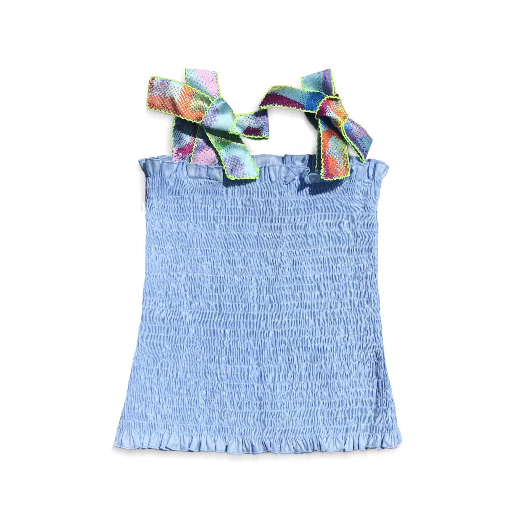 Blue Smocked Top