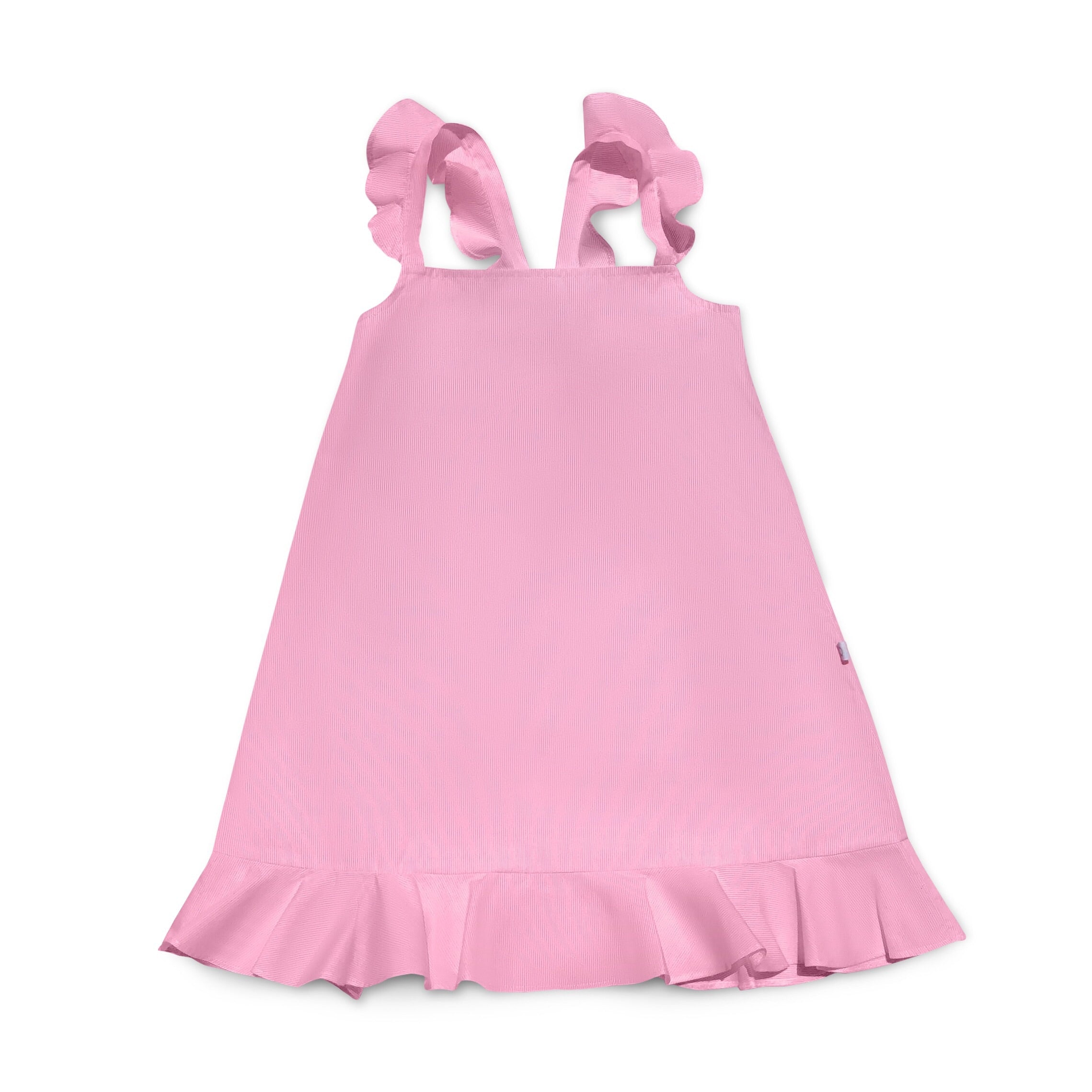 Pink Ruffle Strap Dress