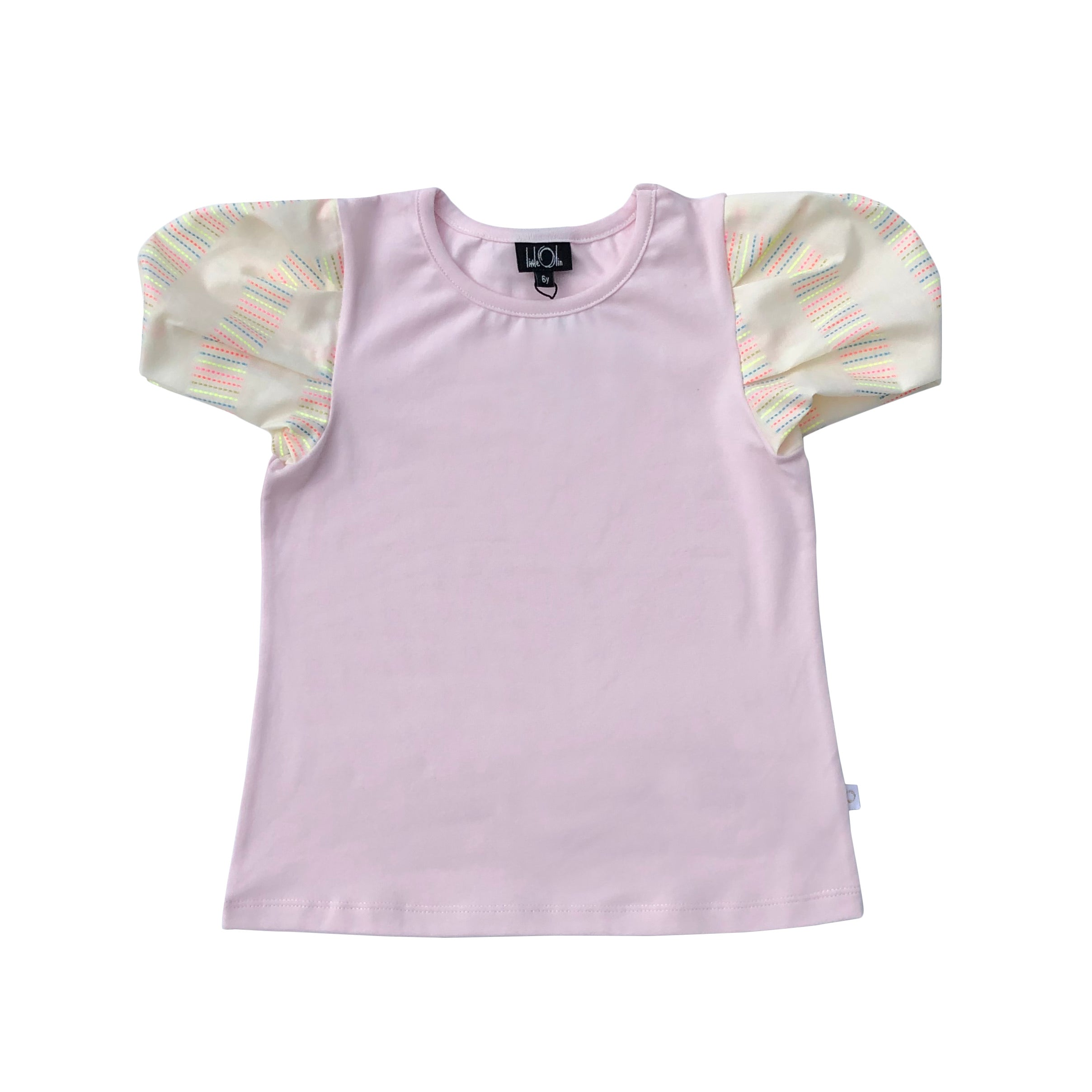 Pink Puff Sleeve Top