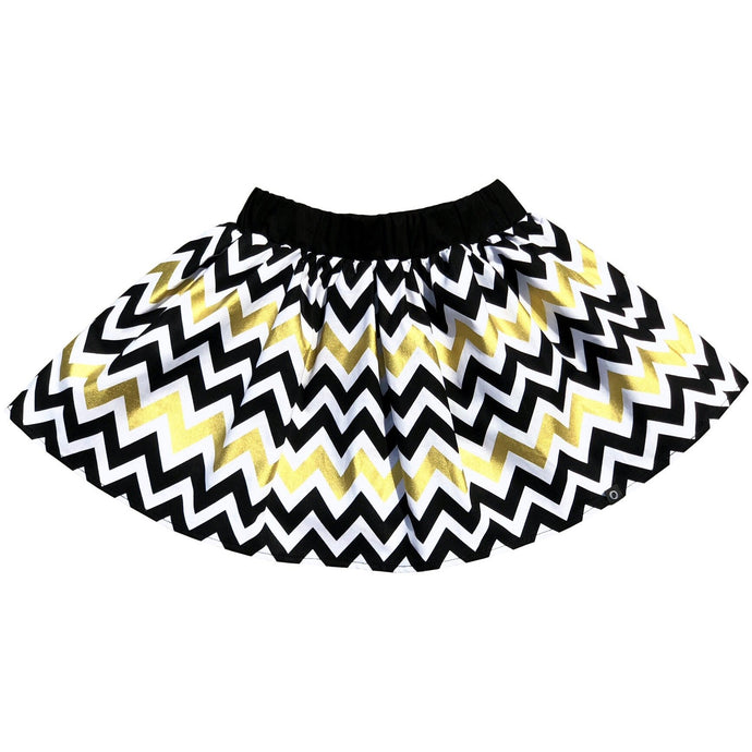 Gold zigzag skirt