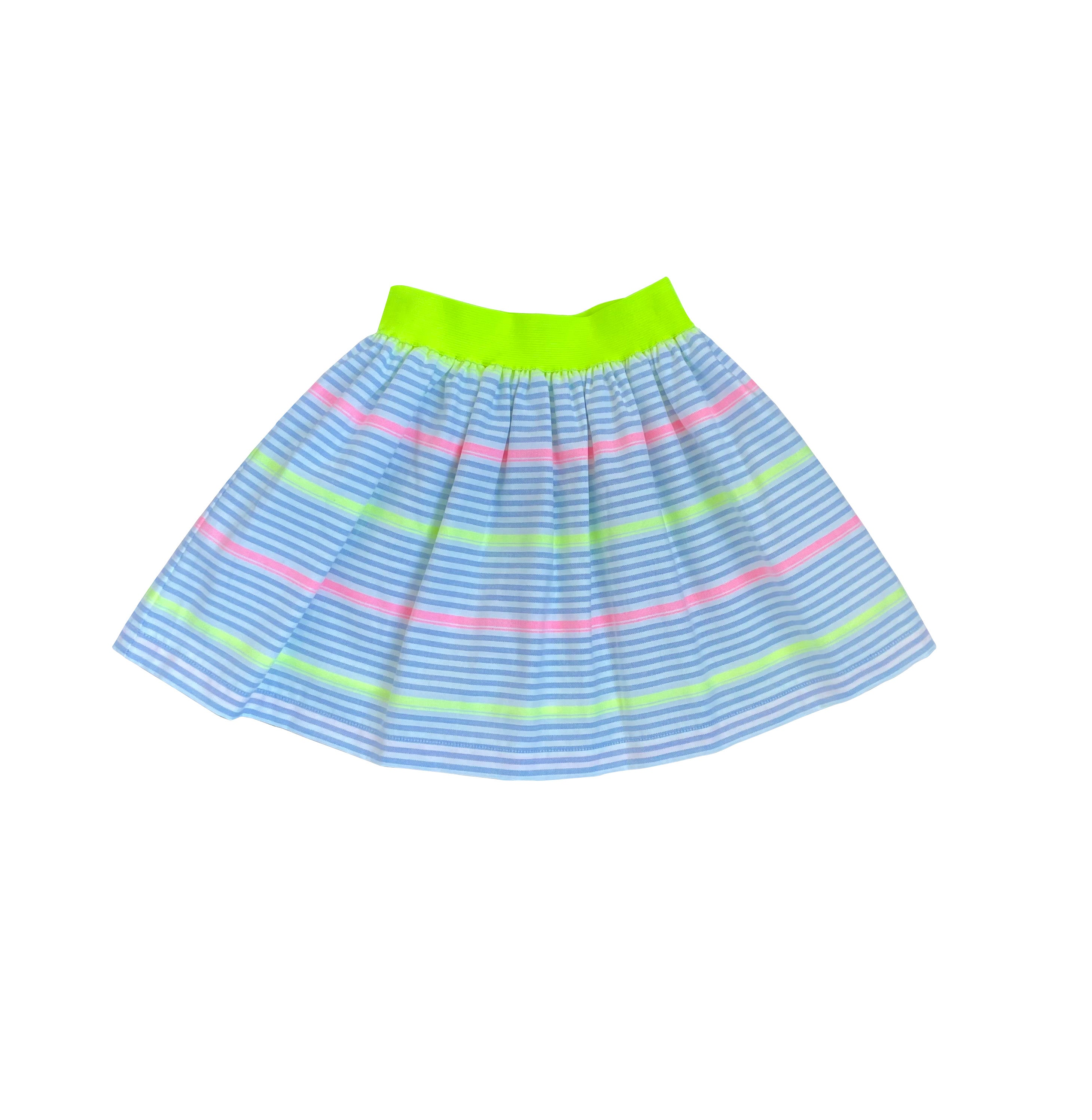 Neon Elastic Gathered Skirt