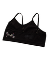 Organic COTTON SEAMLESS Girls' Training Bra for Tweens ~ Black