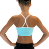 Charlotte Racerback Sports Bra for Girls ~ Aqua