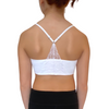 Girls Racerback Bralette White