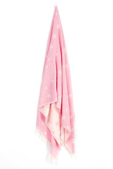 pink peshtemal light weight beach towel