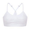 Girl Lace T-back Bralette White