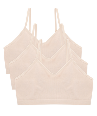 Organic Cotton Seamless Training Bra Nude