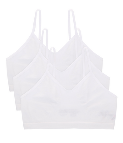 Organic Cotton Seamless Training Bra White