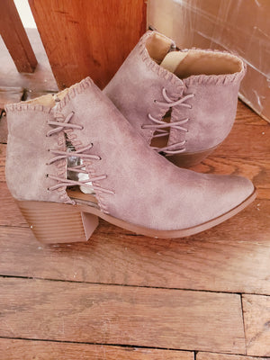 Criss cross booties