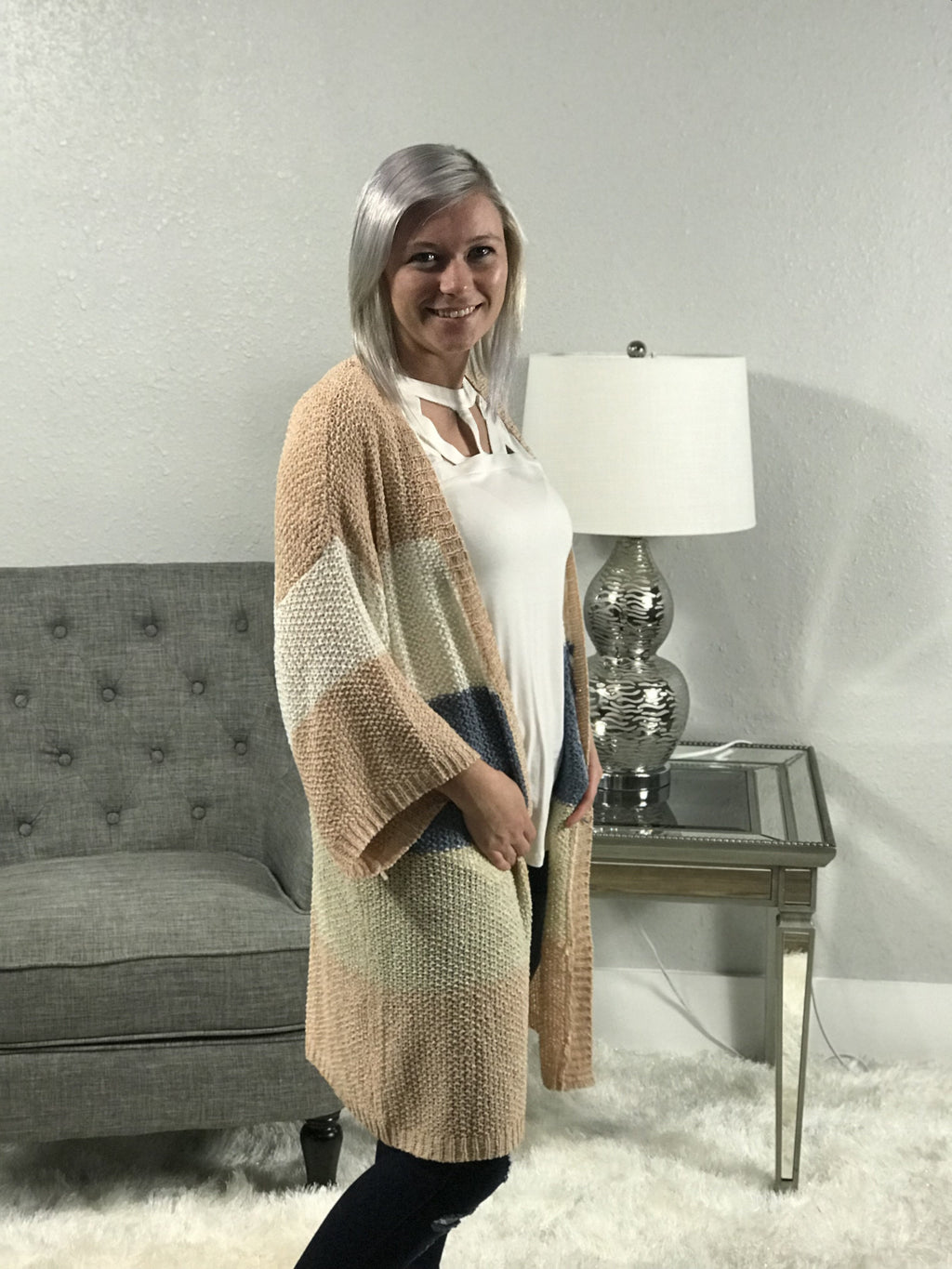 Easy Breezy Cardigan-Peach
