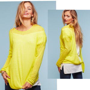 Neon love tie back top