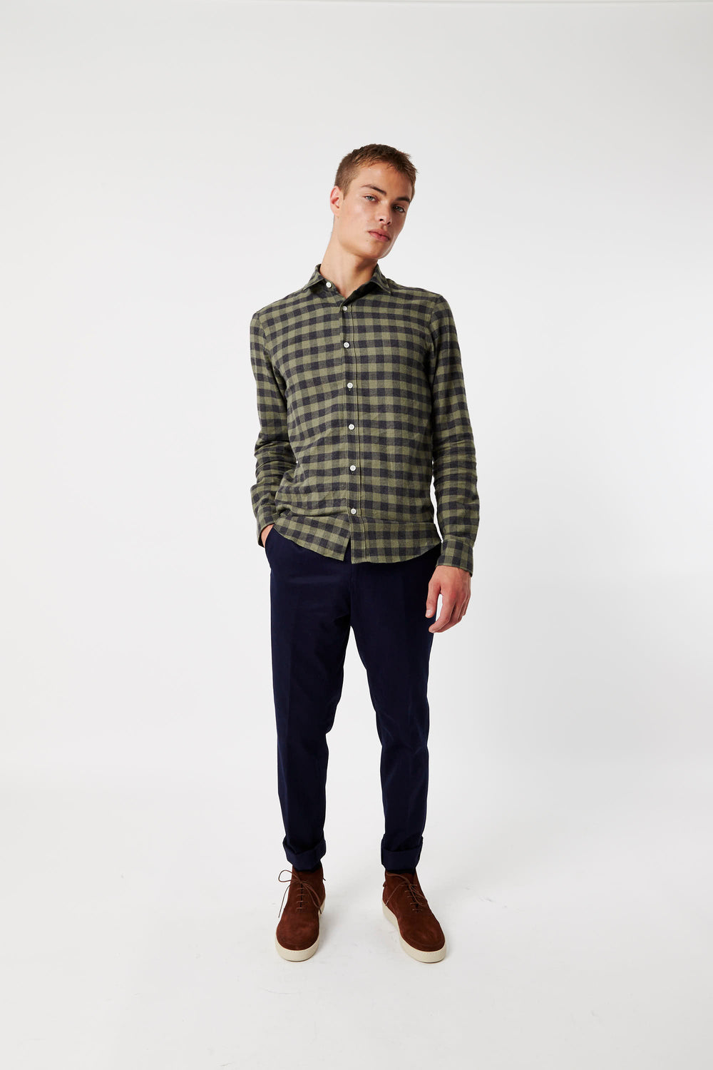 Truman Shirt Green & Black Check