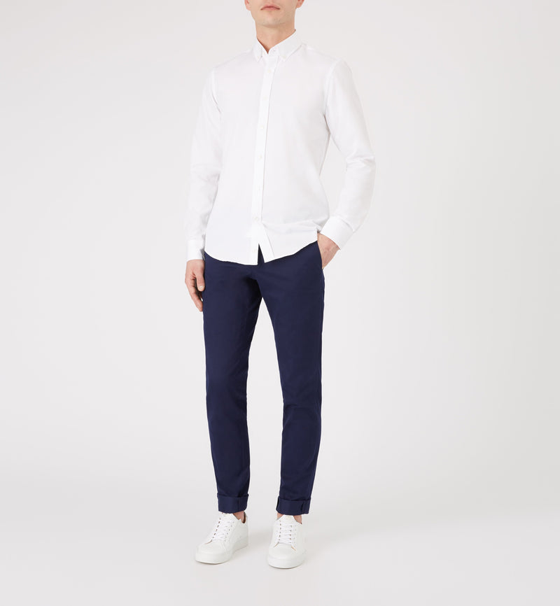 The Blake Cotton Trouser in Light Navy