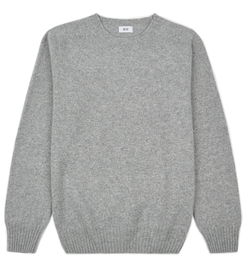 Flannel Grey Kilbirnie Geelong Crew Neck Sweater