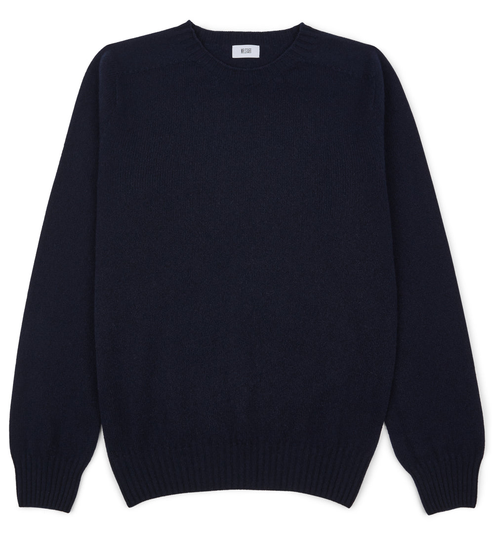 Kilbirnie Geelong Crew Neck Sweater in Nero Navy
