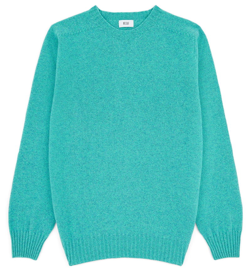 Kilbirnie Crew Neck Sweater in Aqua Marl