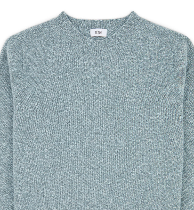 Kilbirnie Crew Neck Sweater in Silver Marl