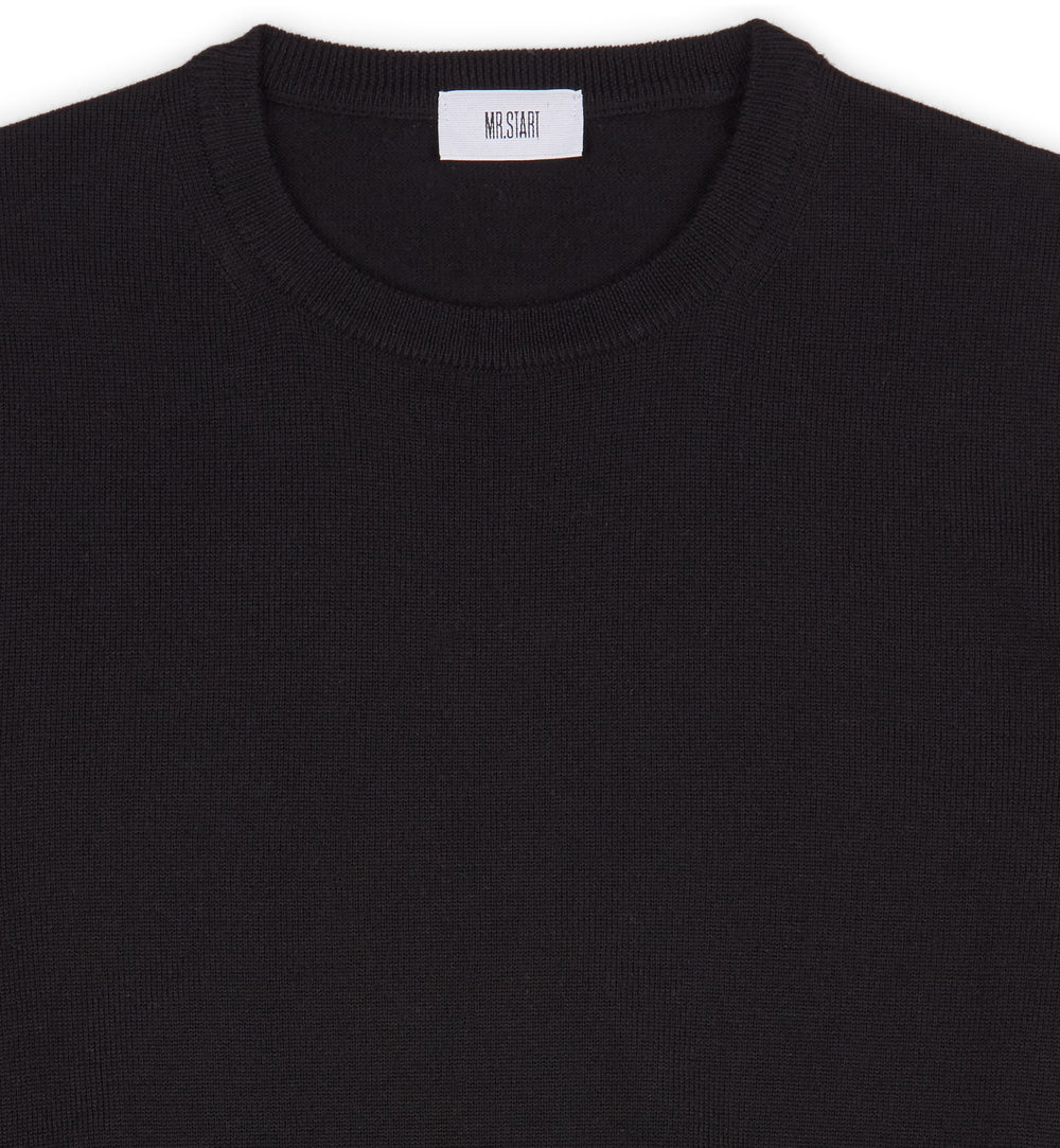 Hoi Polloi Merino Crew Neck in Black