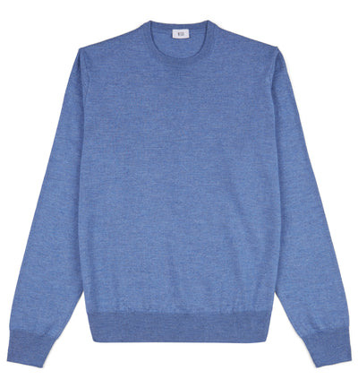 Hoi Polloi Merino Crew Neck in Denim Blue