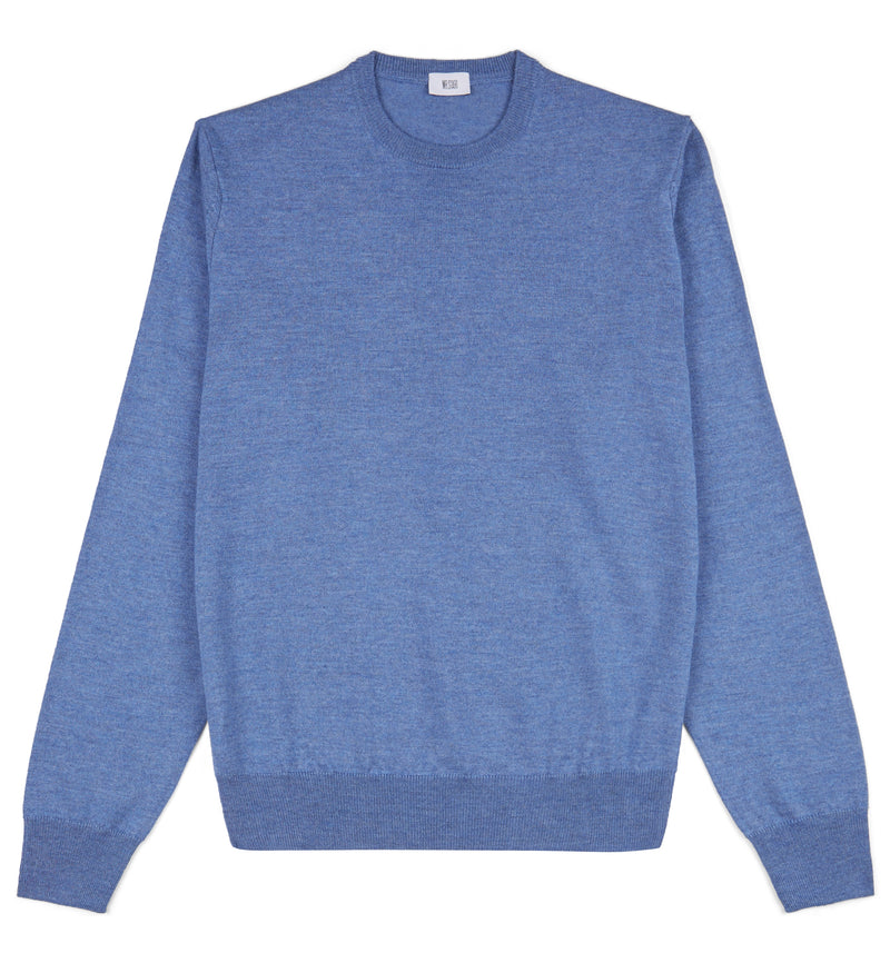 Denim Blue Hoi Polloi Merino Crew Neck