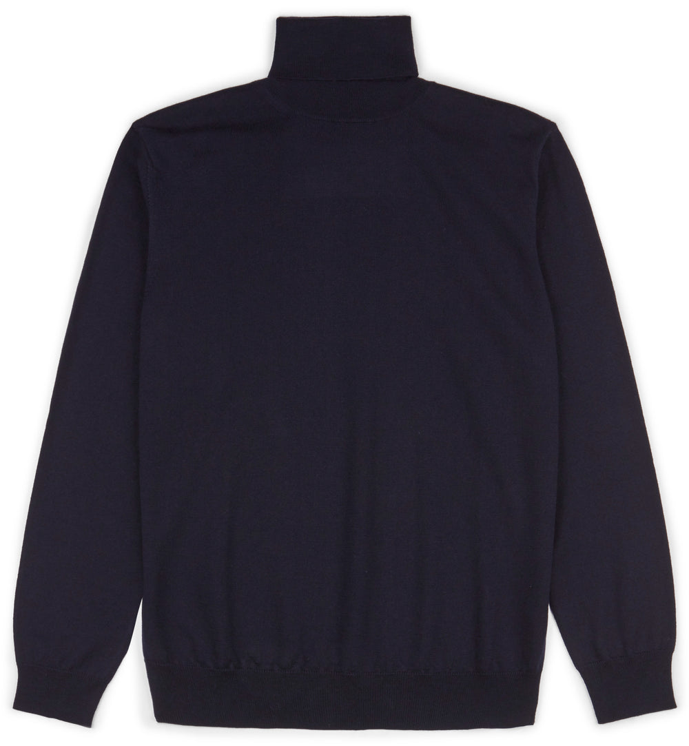 Navy Hoi Polloi Merino Wool Roll Neck