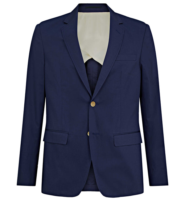 Pitfield Part Lined 2pc Suit In Navy Cotton