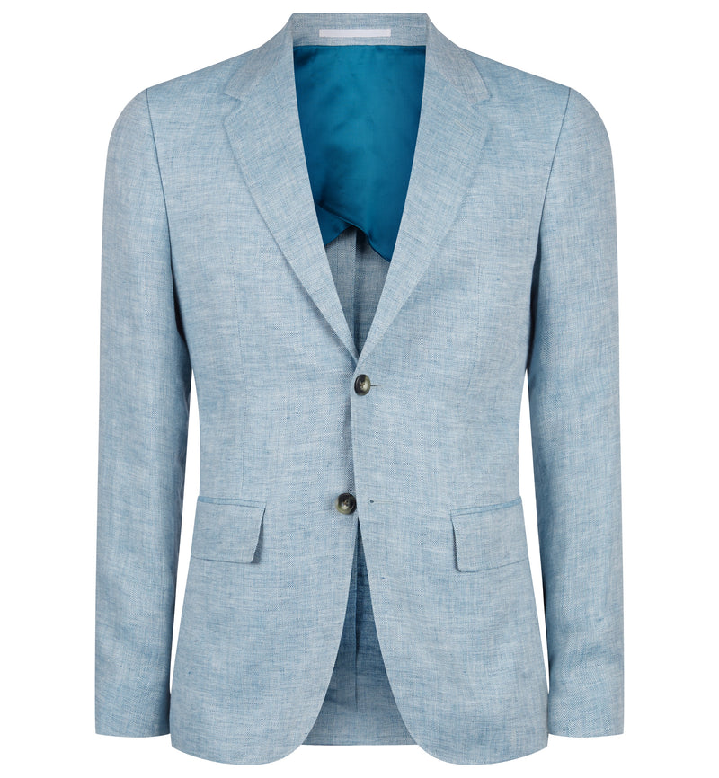 Pitfield Linen Jacket in Light Blue