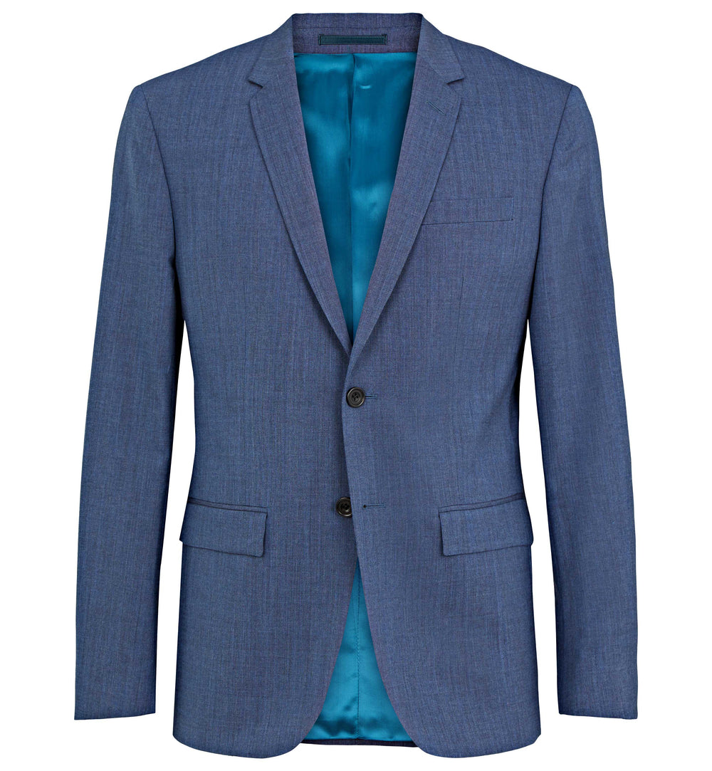 Rivington Wool Suit in Light Blue Chambray Luxe