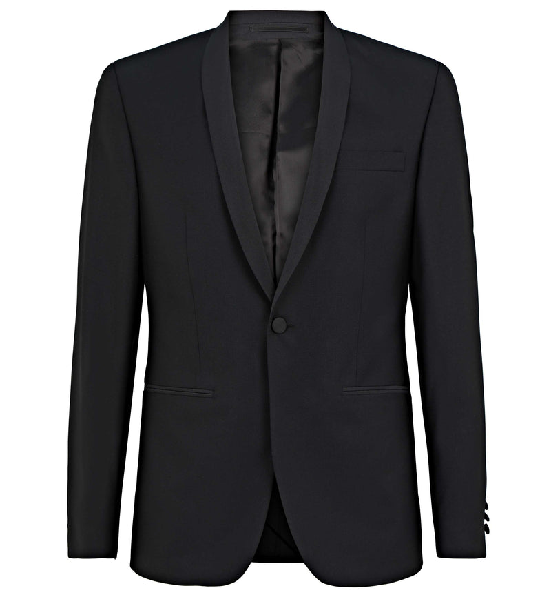 Shawl Collar Evening Suit in Black
