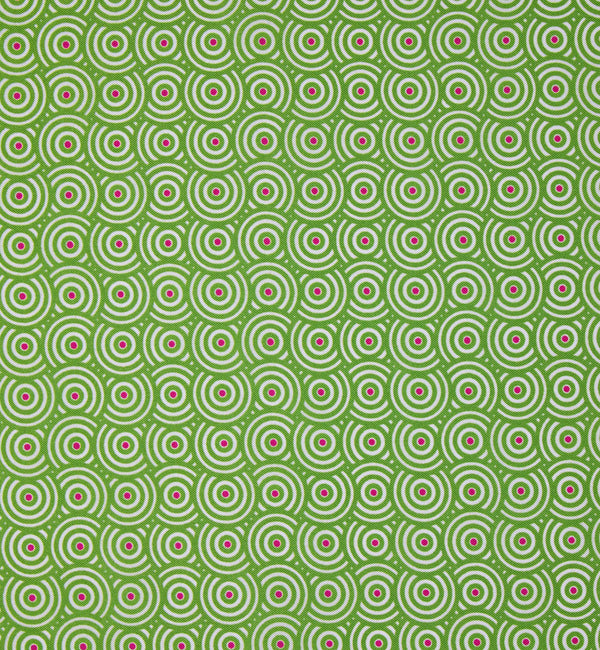 Spiral Circle Silk Twill Pocket Square in Light Green
