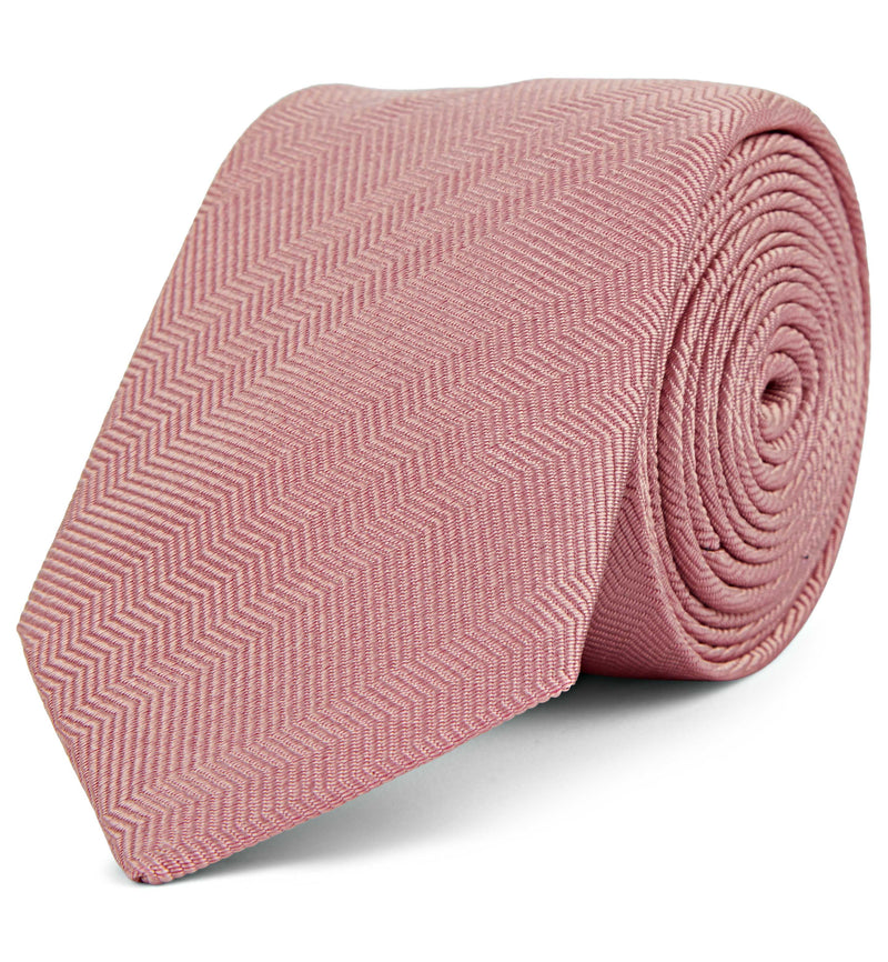 Textured Silk Tie in Light Pink